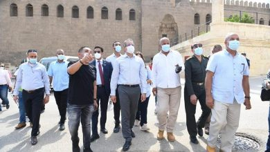 صورة وزير السياحة والآثار يتفقد أعمال تطوير قلعة صلاح الدين الأيوبي